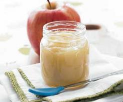 Puré de maçã para bebés