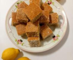 Quadrados de Limão  (Aproveitamento de Limonada)