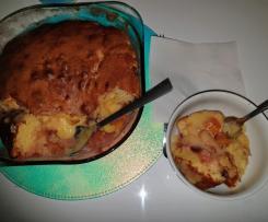 Cobbler - Bolo de Frutas com Ameixa e Pessego