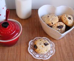 Bolachas com Pepitas de Chocolate (Cookies Americanas)