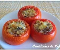 Tomates recheados com cogumelos