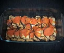 Canelones de beringela com atum