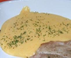 Puré de cenoura, batata e queijo