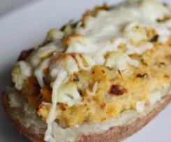 Batata Recheada com Couve-Flor e Carne