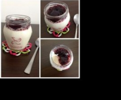 Iogurte adagio invertido de amoras