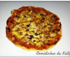 Pizza caseira havaiana