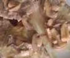 bifinhos de porco com cebolada e cogumelos