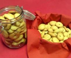 Biscoitos de limão e canela
