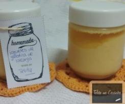 iogurte de gelatina de laranja