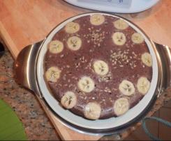 Bolo de Chocolate e Banana