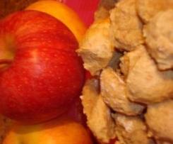 Scones maçã para cão