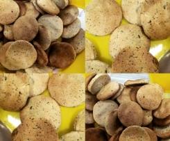 Bolachas de gengibre, canela e sementes de papoila