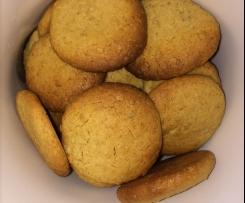 Bolachas aveia e manteiga amendoim