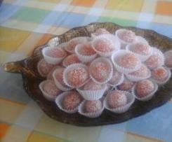 Bombons de abóbora e coco