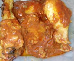 Pernas de frango caramelizadas