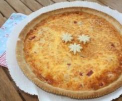 Tarte de queijo e fiambre