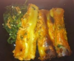 Canneloni com carne picada e grelos