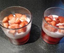 Duo de Gelatina e Iogurte