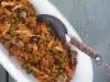 Arroz de tomate e bacalhau