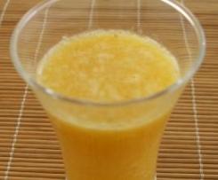 Sumo de banana, laranja e pêra