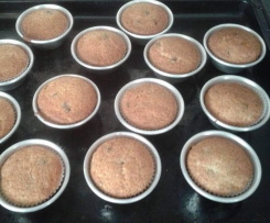 Muffins de baunilha com pepitas de chocolate