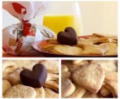 Biscoitos e bombons de laranja