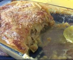 Empadão de frango e alho francês