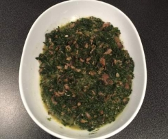 Salteado de cogumelos com espinafres Vegan
