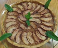 Tarte de maçã aromatizada com vinho do porto e canela