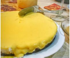 Cheesecake light com lemon curd