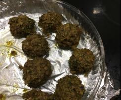 Variante Almondegas de lentilhas e cogumelos