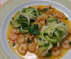 Camarão com Noodles de Courgette
