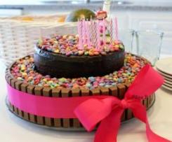 O bolo dos aniversários - chiffon de chocolate