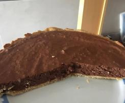 Tarte fit de chocolate