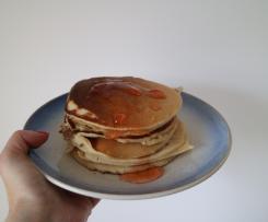Panquecas de farinha espelta sem glúten e sem lactose