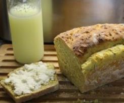 Pão mediterrâneo de curgete e abóbora com leitelho (buttermilk)