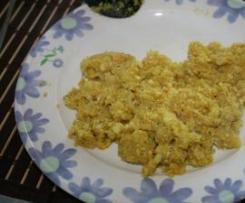 "Cauliflower rice - Indian style "" Arroz de couve flor estilo indiano """