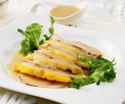 Lombinho de porco com ananás e legumes