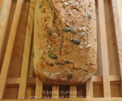 Pão de forma integral, com sementes