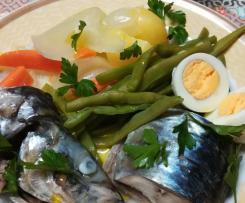 Peixe ao vapor com legumes