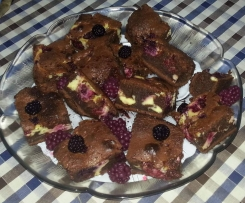 Brownies de Cheesecake e Framboesa - SEM GLÚTEN