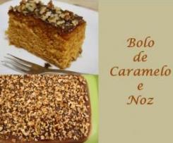 Bolo de Caramelo e Noz