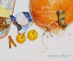 Compota de abóbora com tangerina e canela