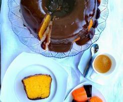 Bolo de Batata Doce com Cobertura de Chocolate