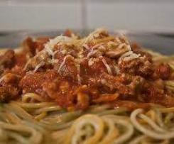 O meu Esparguete à Bolonhesa