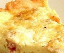 Quiche de bacon e quark