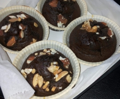 Cupcake de alfarroba e frutos secos