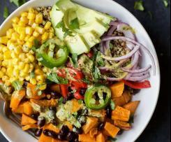 Salada de Batata Doce e Feijão Preto