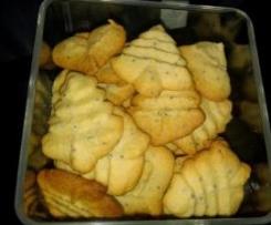 Biscoitos de Baunilha e Semente de Papoila