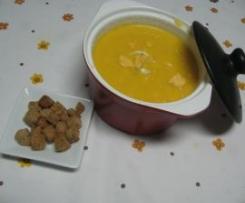 Sopa cremosa de laranja